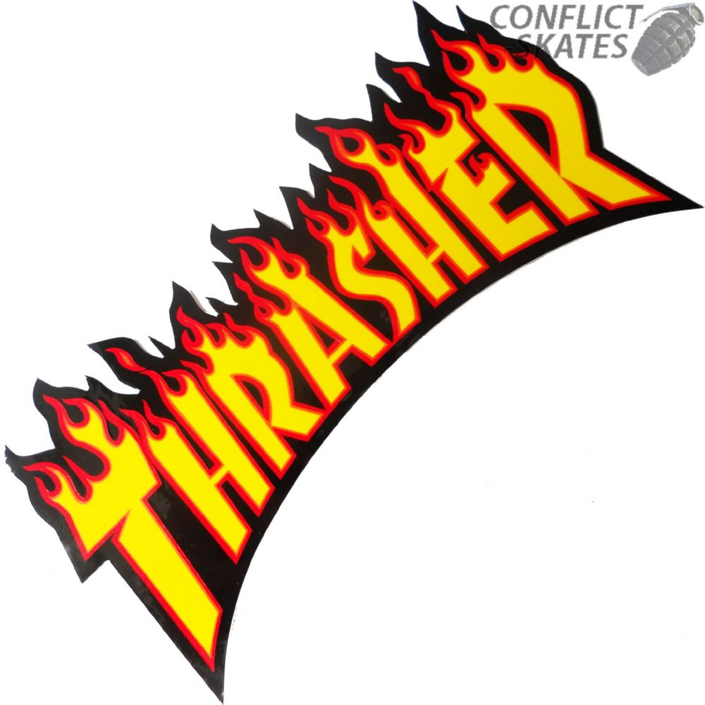 Thrasher Flame Logo Skateboard Sticker 26cm Large Yellow. Rose Gold Stickers. Wall Piece Murals. Fog Stickers. Youtube Minecraft Banners. Hotel Transylvania Banners. Violent Signs Of Stroke. Faded Murals. Felt Lettering